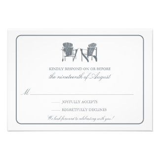 Two Adirondack Chairs RSVP Custom Invites