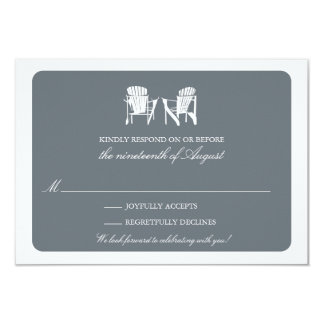 Two Adirondack Chairs RSVP 3.5x5 Paper Invitation Card