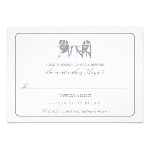 Two Adirondack Chairs RSVP Personalized Invitation