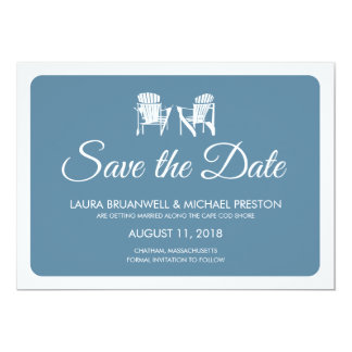 Two Adirondack Chairs Save the Date 13 Cm X 18 Cm Invitation Card