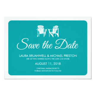 Two Adirondack Chairs Save the Date Card