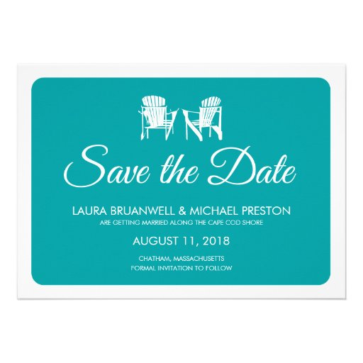 Two Adirondack Chairs Save the Date Announcements