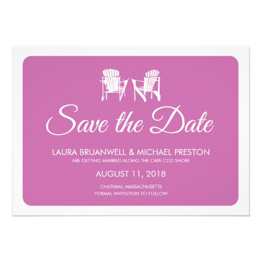 Two Adirondack Chairs Save the Date Invitations