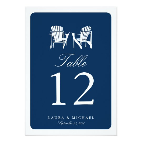 Two Adirondack Chairs | Table Number