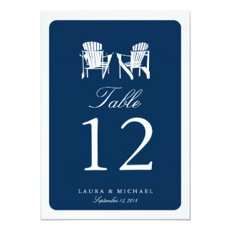 Two Adirondack Chairs | Table Number Card