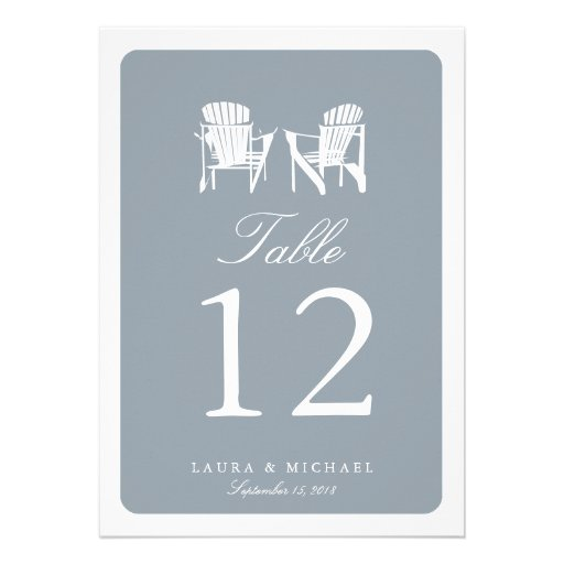 Two Adirondack Chairs | Table Number Personalized Invite