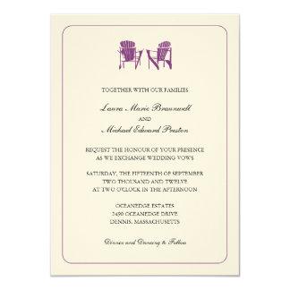 Two Adirondack Chairs Wedding 11 Cm X 16 Cm Invitation Card