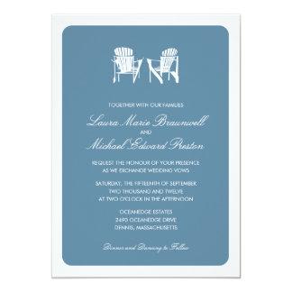 Two Adirondack Chairs | Wedding 13 Cm X 18 Cm Invitation Card