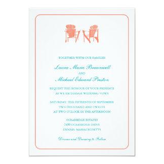 Two Adirondack Chairs Wedding 13 Cm X 18 Cm Invitation Card