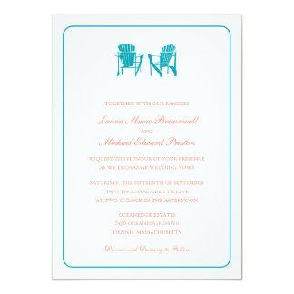 Two Adirondack Chairs Wedding Card