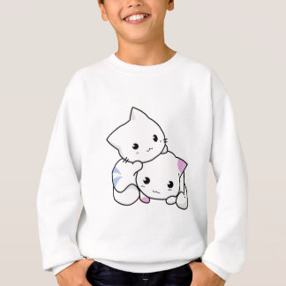 Two adorable baby kittens cuddle together sweatshirt