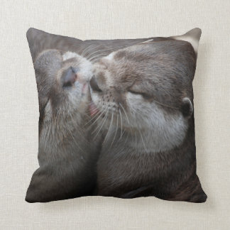 Two Adorable Otters Cushion
