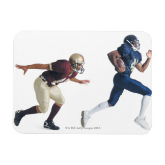 two african american american football players magnet