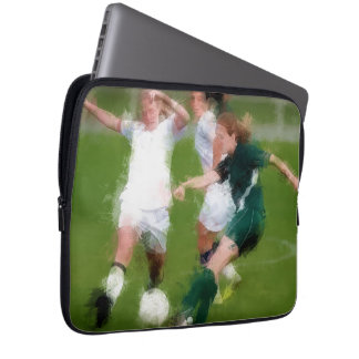 Two Against One Soccer Battle Laptop Sleeve