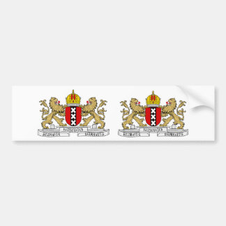 TWO Amsterdam Coat of Arms Bumper Sticker