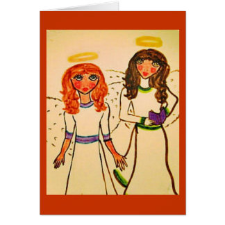 Two Angels note and greeting card design
