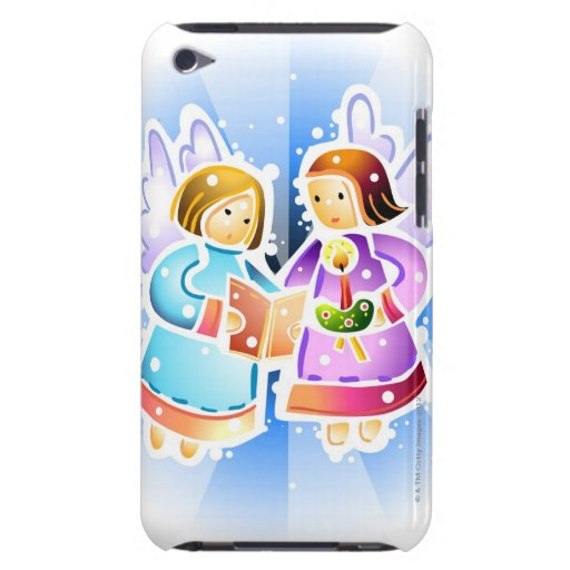 Two angels singing iPod touch Case-Mate case