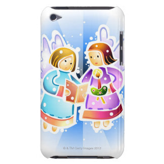 Two angels singing iPod touch cases
