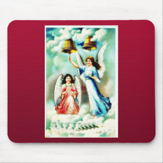 Two angles praying by ringing the bell on sky mousepads