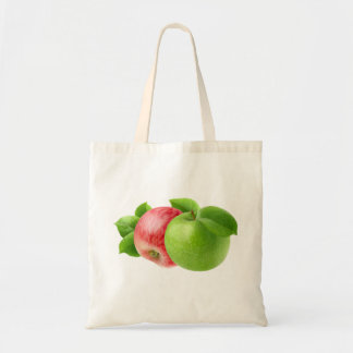 Two apples budget tote bag