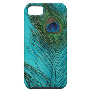 Two Aqua Peacock Feathers iPhone 5 Case