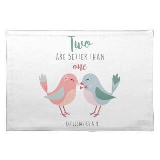 two are better than one christian bible verse place mat