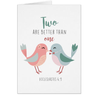 two are better than one christian greeting card