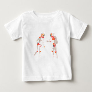 Two Astronauts In Space Suits Chatting On Dark Baby T-Shirt