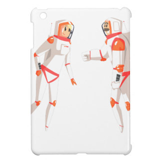 Two Astronauts In Space Suits Chatting On Dark iPad Mini Cases
