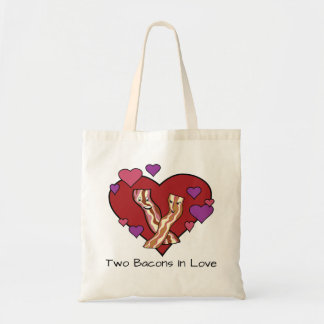 Two Bacons In Love Tote Bag