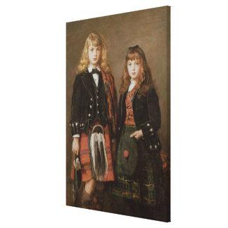 Two Bairns Canvas Print