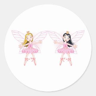 Two Ballerina Fairies Stickers