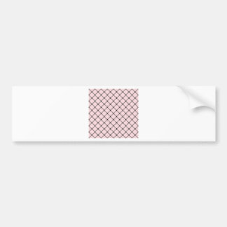 Two Bands Small Diamond - Black on Pale Pink Bumper Sticker