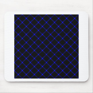 Two Bands Small Diamond - Blue on Black Mouse Pad