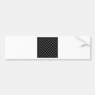 Two Bands Small Diamond - Honeydew on Black Bumper Stickers