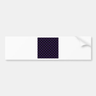 Two Bands Small Diamond - Violet on Black Bumper Sticker