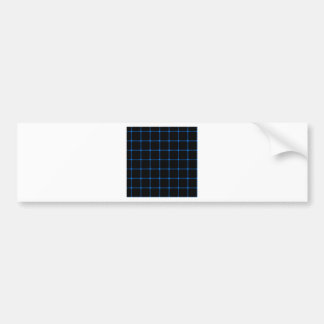 Two Bands Small Square - Azure on Black Bumper Stickers