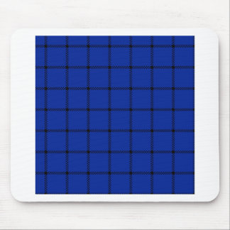 Two Bands Small Square - Black on Imperial Blue Mouse Pad