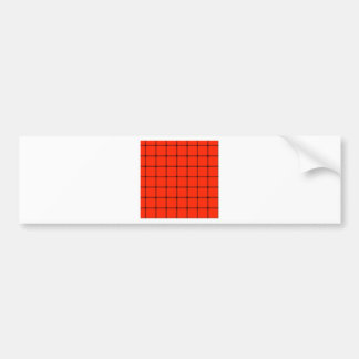 Two Bands Small Square - Black on Scarlet Bumper Stickers
