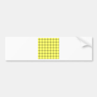 Two Bands Small Square - Black on Unmellow Yellow Bumper Stickers