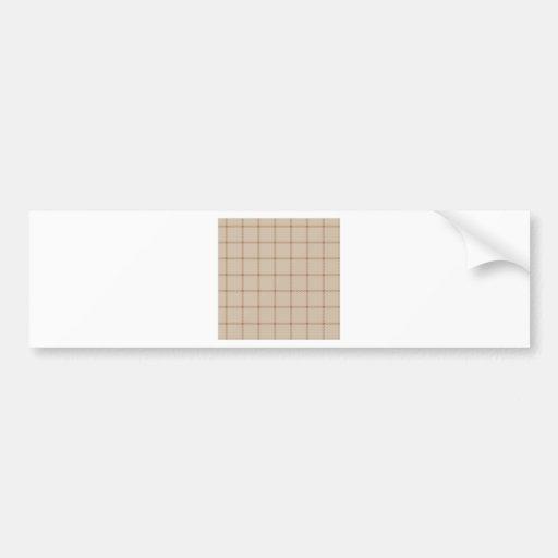 Two Bands Small Square - Brown1 Bumper Sticker
