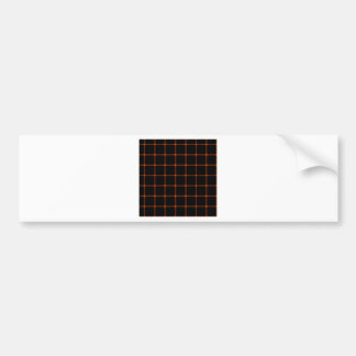 Two Bands Small Square - Tangelo on Black Bumper Sticker