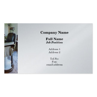 Two Barber Chairs - Platinum Finish Business Card Templates