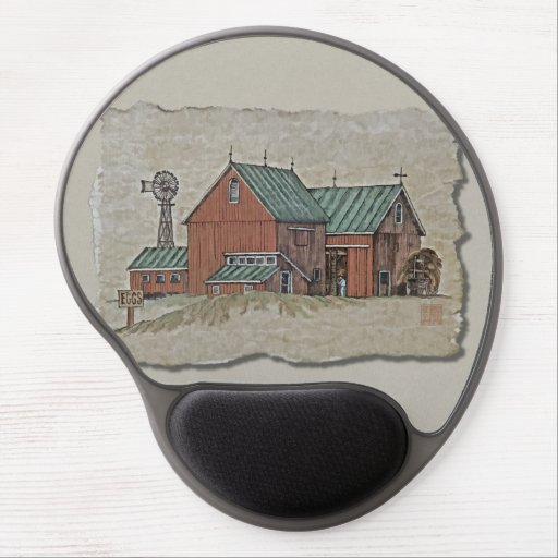 Two Barns & Hay Wagon Gel Mouse Mat