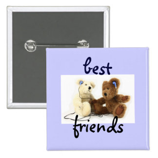 Two Bears Best Friends Button