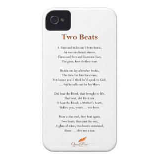 Two Beats Poem Case-Mate iPhone 4 Case
