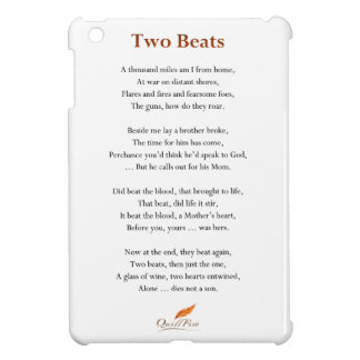 Two Beats Poem iPad Mini Cover
