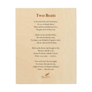 Two Beats Poem on Wood Photo Print