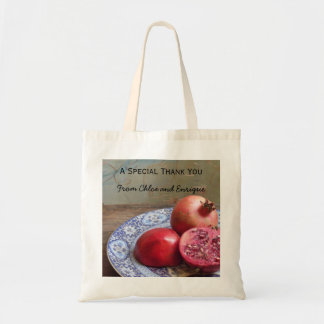 Two Become One Pomegranate Wedding Tote