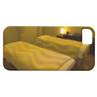 Two beds in the beauty salon, high angle view, case for the iPhone 5